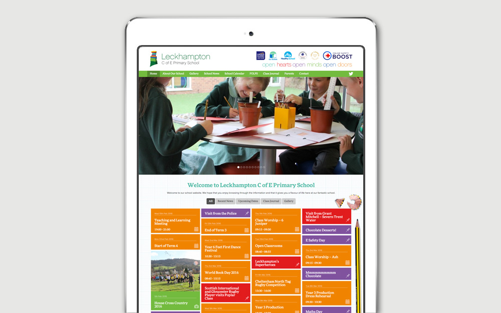 Cheltenham school website design in wordpress